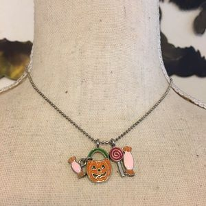 Cookie Lee Halloween candy charm necklace